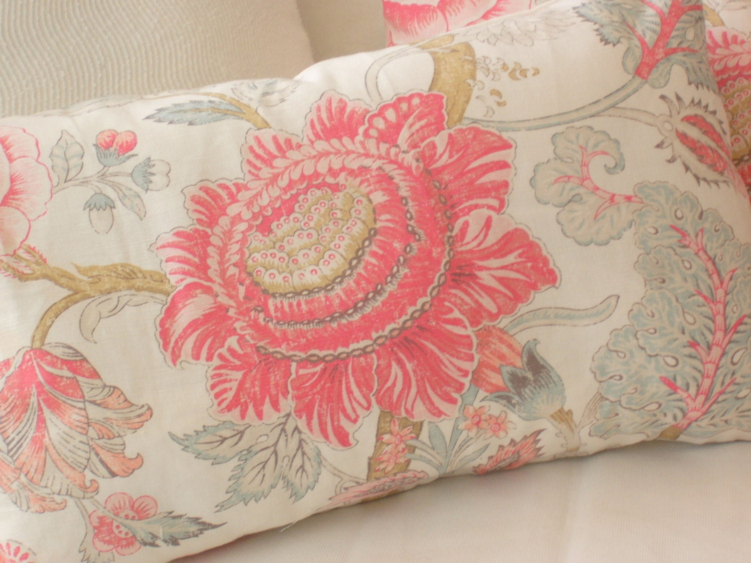 Pair of decorative Throw Pillow designer fabrics by 1shawfield