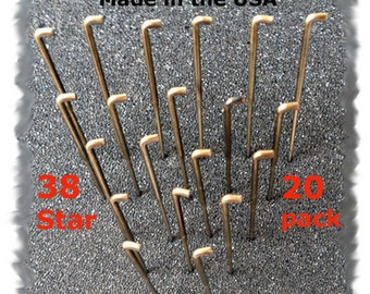 20 Needle Felting Needles Size 38 STAR Made in the USA