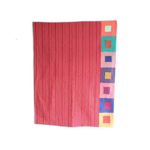Super Sale Discount Price - Throw Blanket, Lap Quilt, Baby Quilt, Kids Quilt - Modern Patchwork Design