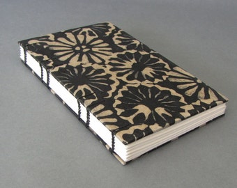 Batik Mums in Black Tall Skinny Journal, Ready To Ship