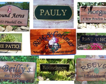 Personalized SIGNS - Hand routed & carved  - for your campsite, cabin, cottage,deck or dock, or any place you call home.  Order YOURS today