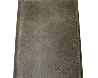 Rustic Brown Leather Passport Cover For Men & Women - Accessories