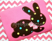 Machine Embroidery Design Applique Bunny Hopping 2 INSTANT DOWNLOAD