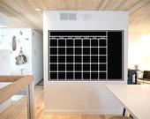 Perpetual Blackboard Chalkboard Vinyl Calendar - LARGE