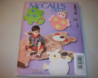 New McCall's Childs' Play Mat Pattern, M6719  (Free US Shipping)