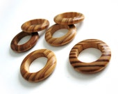 Wood Beads Rings, Rondelle, No Hole, BurlyWood, 28mm in diameter - Set of 6