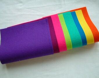 Pure Wool Felt Sheets Bundle - Vibrant - Various Sizes - EN71 - Toy Making