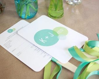 Wedding Fan Program- Choose from 40 designs