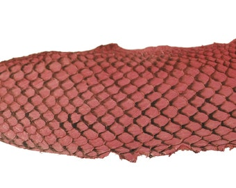 Light PINK Exotic Glossy Eco Friendly, CHROME free, real Tilapia Fish Leather Skin from Go Fish Leather. Sold by each skin.
