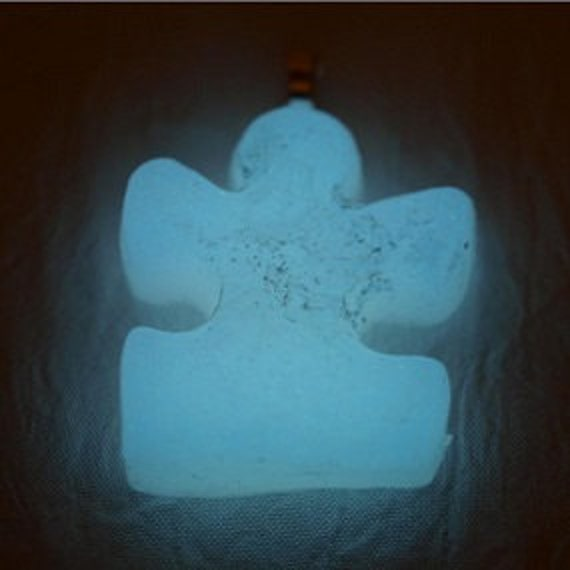 Glow In The Dark Vibrant Bright White Puzzle Pendant PIF Sale