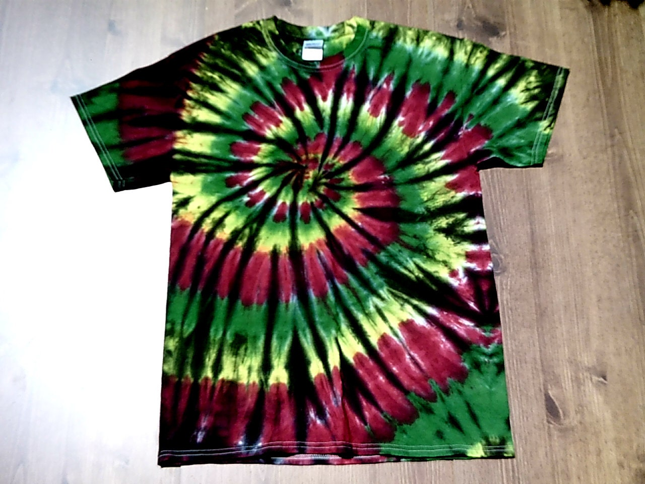 Custom tie dye shirts super soft unisex rasta by for Custom t shirts tie dye