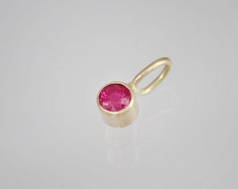 Ruby Drop Pendant in 14k Yellow Gold (pendant only)