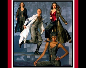 CATWOMAN -Female Action Heros- Costume Sewing Pattern Collection-TOMB RAIDER- Matrix -Underworld Vampire-Uncut -Size 14-20 -Rare
