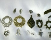 100 Wholesale  jewelry making supplies 10  each of metal chandelier and charms pendants