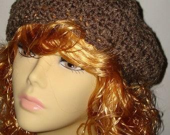 Hand Crochet Scottish Style Slouchy Tams w/ Pom Pom/Women's Berets/Fall Accessories/Women's Accessories/Fashion Accessories/Teen Accessories