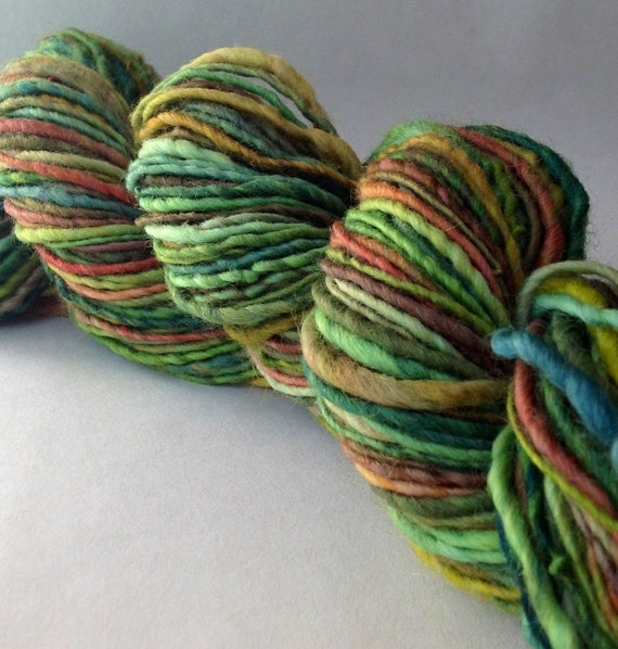 Li'l Mitch Peanut - handspun yarn, worsted weight