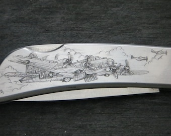 Greatest Generation Hand Engraved Knife
