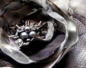 Shimmery elegance - flower brooch