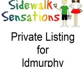 Private Listing for ldmurphy -  12 sidewalk paint mini-stacks with custom tags