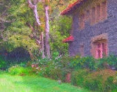 Digital painting image download---Impressionist Cottage photo painting by DylanD