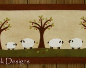 Sheep Runner Wool Applique PATTERN