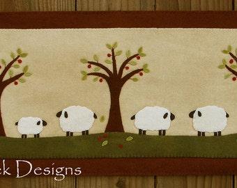 Sheep Runner Wool Applique PATTERN
