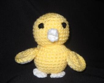 Hand Made Crocheted Little Yellow Duckling