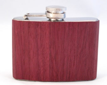 4oz Purple Heart Wood Flask Limited Edition