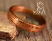 Shimmer Koa Bentwood Ring - Handcrafted Wooden Ring