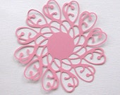 Ornate spiral Flower die cut  set of 4 in any colour