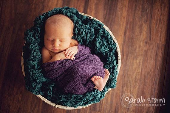 Purple Stretch Baby Girl Newborn Stretch Baby Wrap Photo Prop, Eggplant Nubble, Newborn Photography Prop, Baby Props, Newborn Girls, Dark