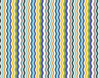 Bailey Zany in Blue by Maude Ashbury for Blend Fabrics - 1 Yard