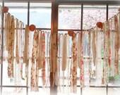 Anthropologie Inspired Wedding Garland Banner Shabby Chic Fabric Wedding Garland Ribbon Torn Fabric Bunting