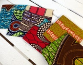 10 African wedding invites. Fabric covered wedding invites.