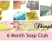 Handmade Soap, 6 month  SOAP Club Subscription, receive 2 soaps each month