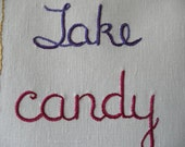 Take Candy from Strangers, Original Modern Tapestry, Edgy Decor