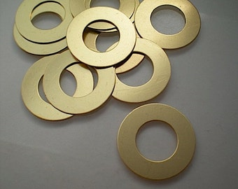 12 flat brass medium washer stamping blanks