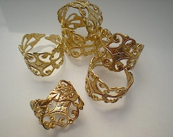 6 adjustable brass rings