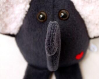 Grey Elephant - Whee One - Stuffed Animal - Plushie Stuffed Toy