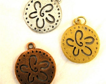 Cut Out Flower Charm Made in USA (2)