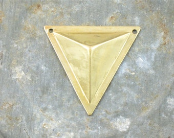 4 TRIANGLE faceted geometric jewelry pendant . 27mm x 26mm (S36s). Please read description