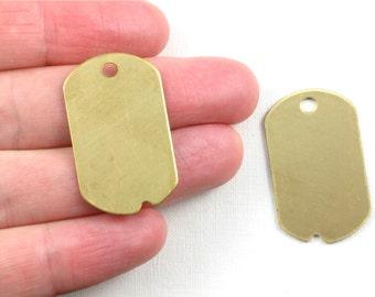 5 brass DOG TAGS jewelry pendant . 32mm x 19mm (S54). Please read description