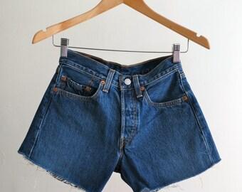 The Levi's 501 Cut Off Denim Shorts
