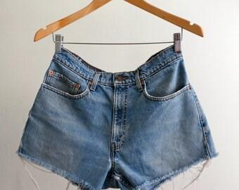 The Vintage Levi's 550 Cut Off Denim Shorts