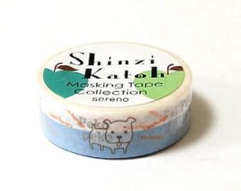 Shinzi Katoh Masking Tape - Hungry Puppy Dog