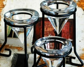 a set of three stunning candle holders  T 12 Laf