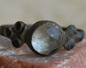 c. 16th - 17th century. size 11, antique or vintage ring from an archaeological dig, collectibles, Cool Vintage, metal patina, x121
