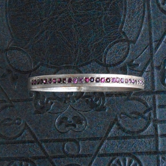 Antique Victorian Bracelet . Sterling Amethyst. Victorian Jewelry Jewellery .