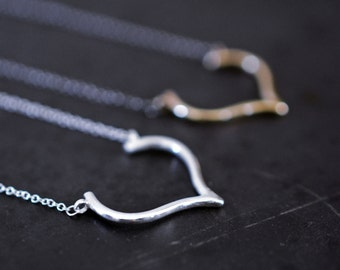 From the bottom of my heart (tm)...sterling silver heart necklace