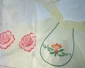 2 Vintage Chiffon Half Aprons